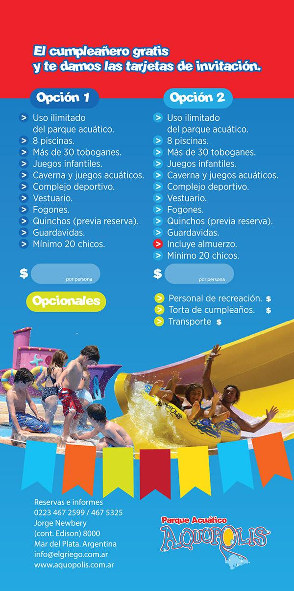 Cumple Aquatico Parque Acuatico Aquopolis